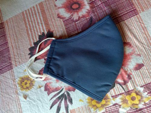 Plain Dark Blue 3 Layer Cotton Armour by Miira photo review