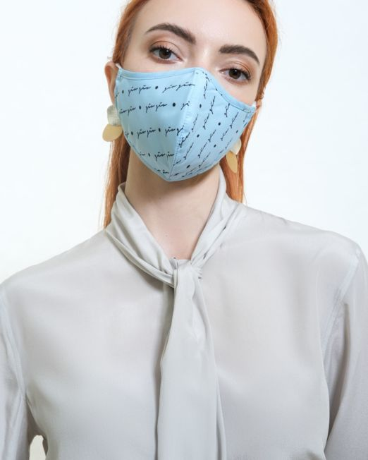 Blue Cotton Mask by Miira