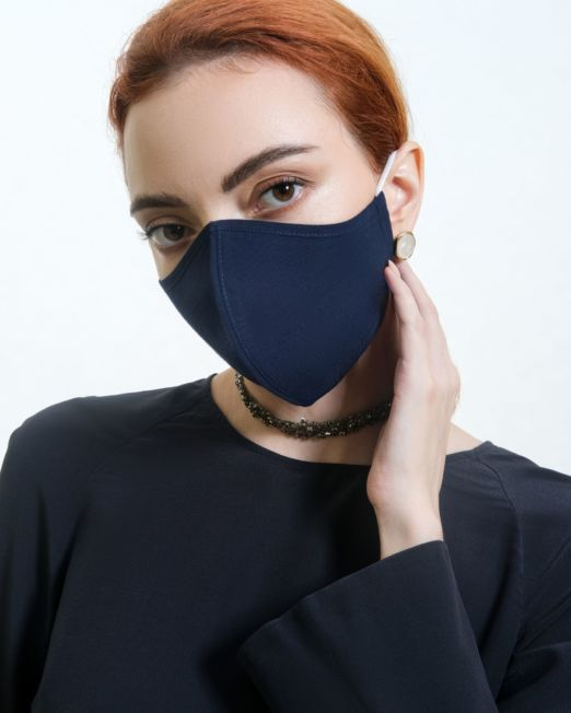 Dark Blue Cotton Mask